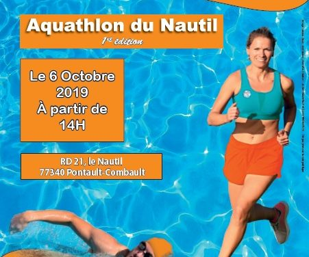 1er Aquathlon du Nautil le 6 Octobre 2019 !