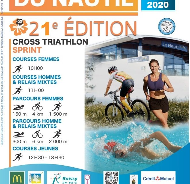 21ème édition du Triathlon du Nautil ! 8 Mai 2020
