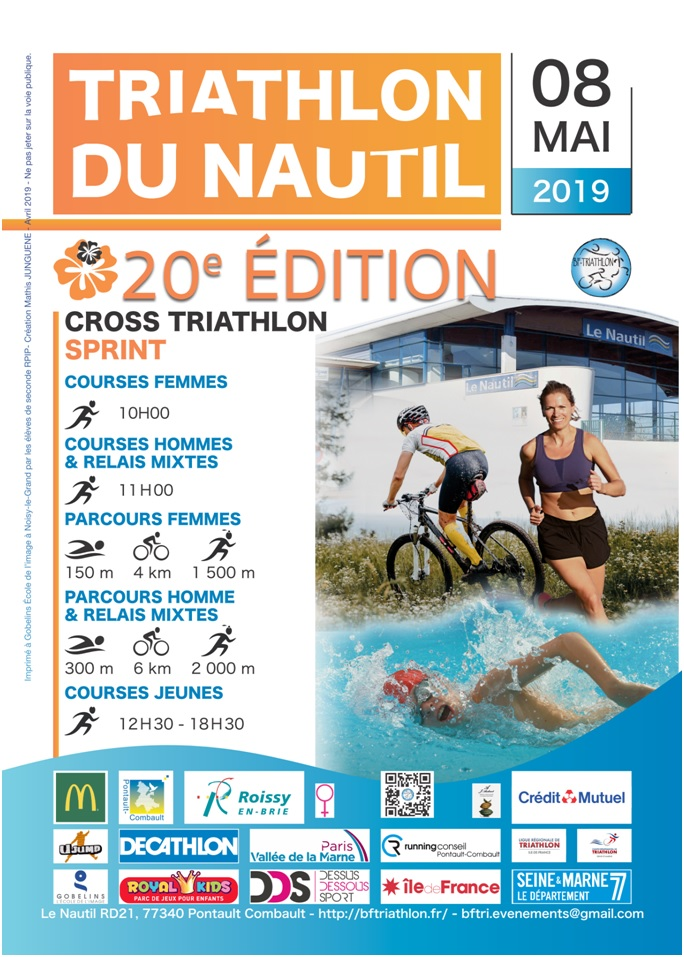 20ème édition du Triathlon du nautil ! 8 Mai 2019
