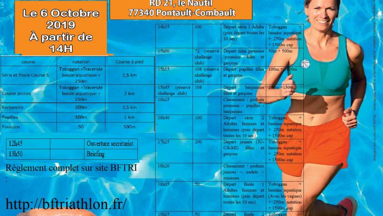 1er Aquathlon du Nautil le 6 Octobre 2019 !