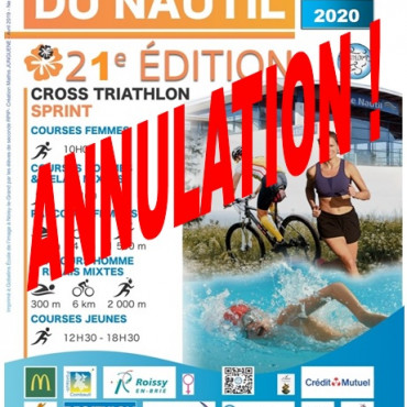Annulation du Triathlon du Nautil du 8 mai 2020 !